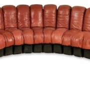 This de Sede Non Stop sofa realized $12,000 plus the buyer's premium in August 2018 at Material Culture.