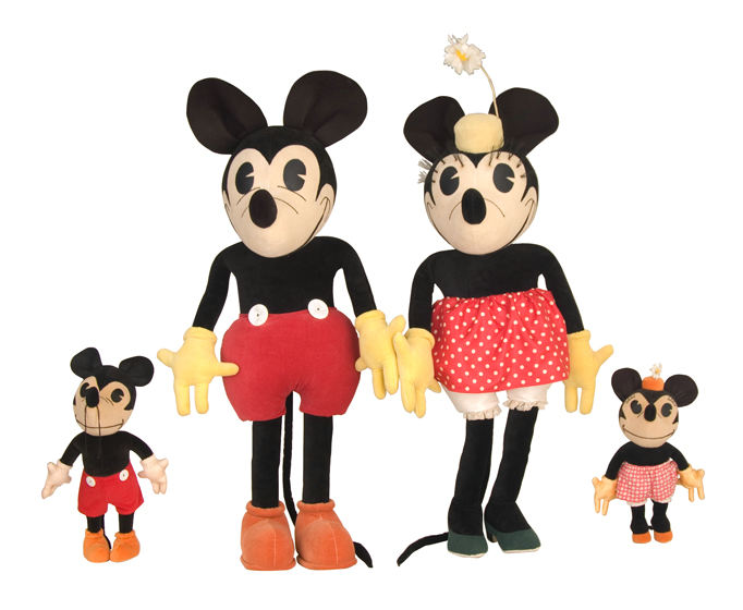 ke's sold these large Charlotte Clark display dolls of Mickey and Minnie Mouse for $151,534 in September 2007. The price was, and remains a record for Disney merchandise.