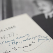 Image of the 1946 letter in which Einstein handwrites the famous equation E = mc2, estimated at $400,000-$600,000