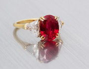 Burmese ruby and diamond ring, which sold for $287,500 against an estimate of $30,000-$50,000