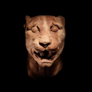 Greek marble panther head, estimated at $40,000-$60,000