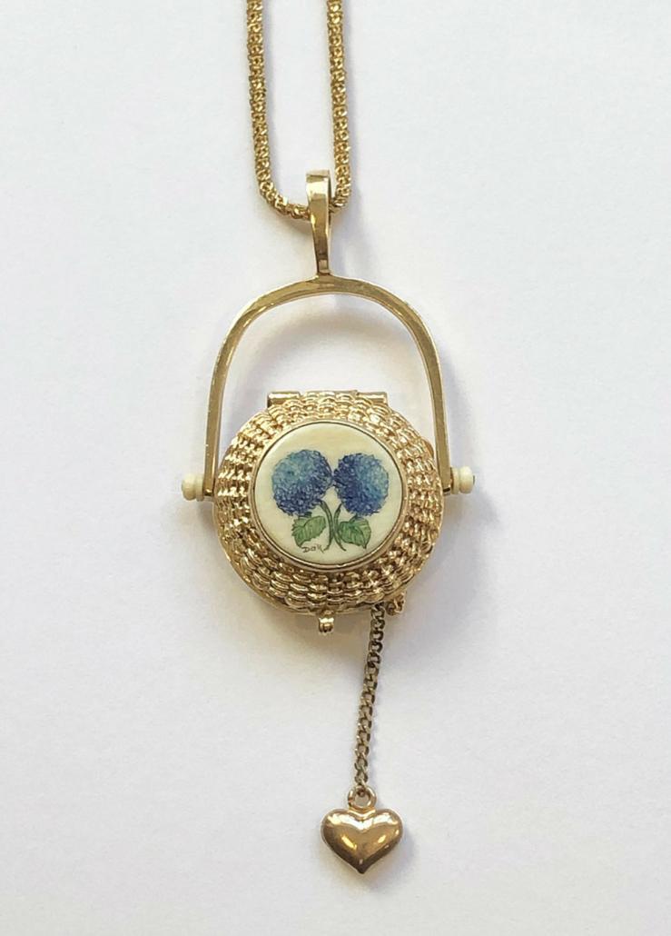 Diana Kim England Nantucket basket pendant necklace, estimated at $1,500-$2,000