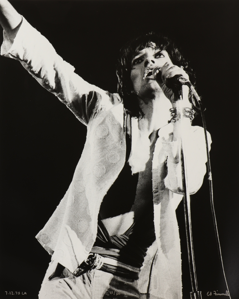 Ed Finnell's 1975 image of Mick Jagger on the 'Tour of the Americas'