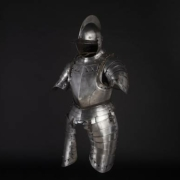 Circa-1560 black and white half armor for a man-at-arms, which sold for €31,250