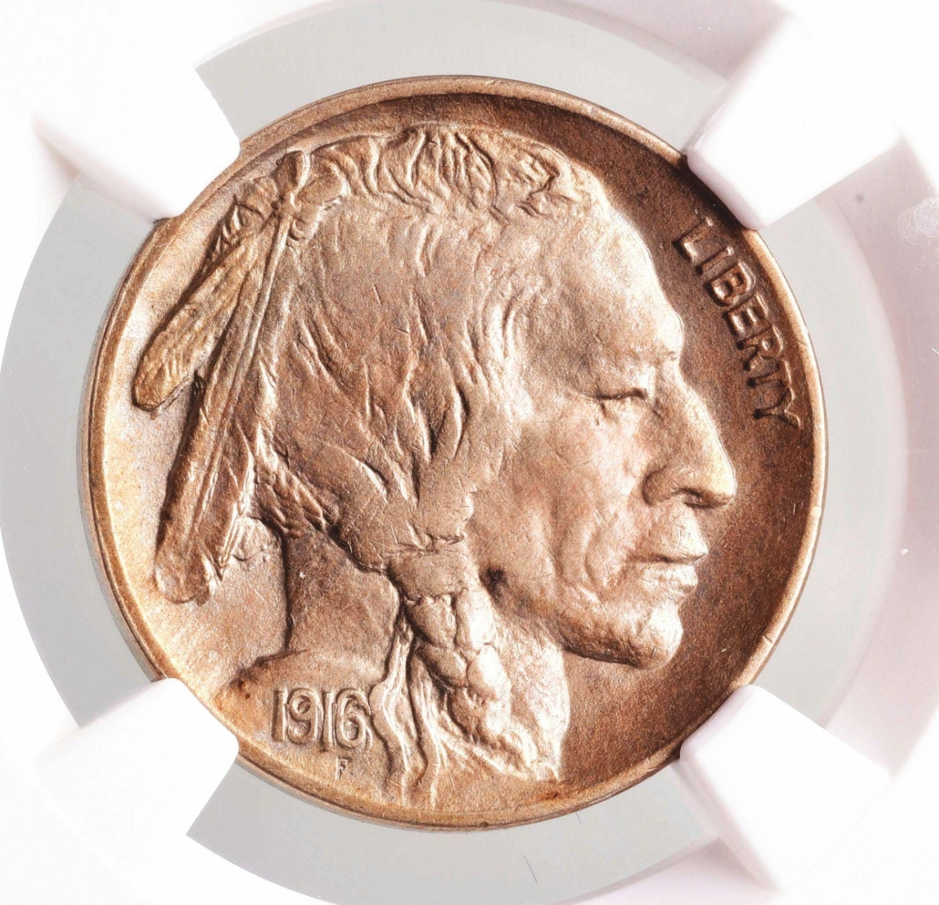 1916 double-die obverse Buffalo nickel, which sold for $33,600