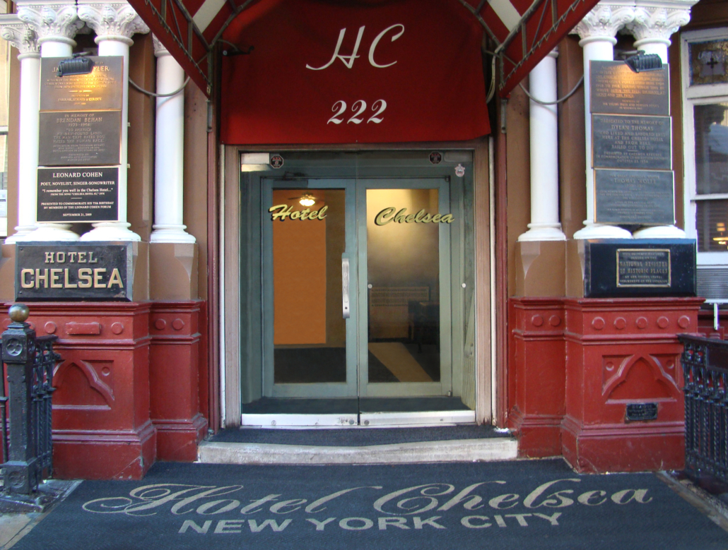 Front doors of the Hotel Chelsea, estimated at $150,000-$250,000