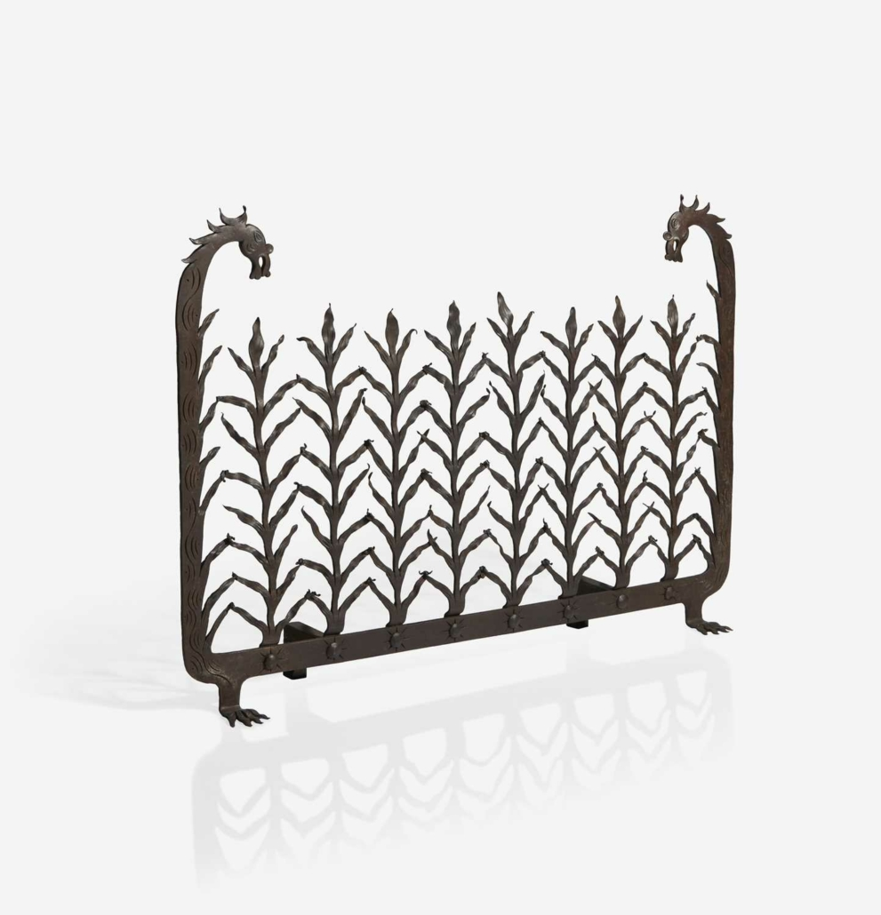 Samuel Yellin 1929 wrought iron firescreen, which sold for $40,950