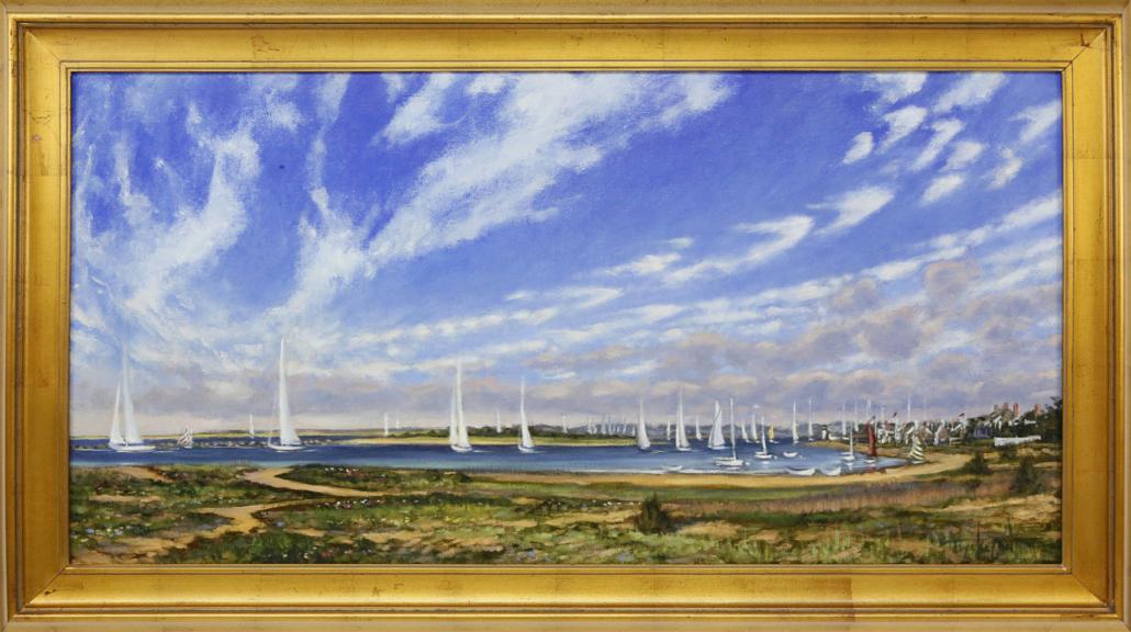 Illya Kagan, 'Yachting Day – Nantucket Harbor,' estimated at $5,000-$7,000