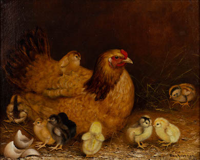 Ben Austrian farmyard scene a standout in Jeffrey Evans July 2-3 auction