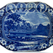 History-themed Staffordshire ceramic platter, which realized $18,720