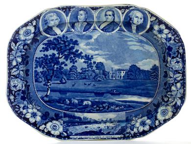 Historical portraits platter serves up $18K at Jeffrey Evans