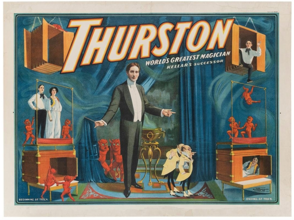 'World's Greatest Magician' Thurston poster, which more than doubled its low estimate to sell for $10,200