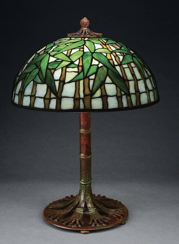 Tiffany Studios Bamboo lamp, which sold for $73,800