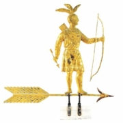 Molded and gilded-copper weathervane depicting standing Massasoit Indian, which sold for $258,300