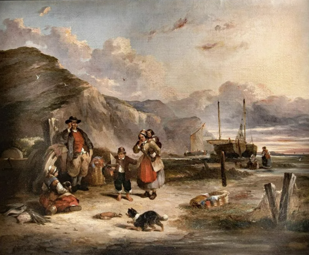 Eduard Hildebrandt, 'White Cliffs of Dover,' estimated at $6,000-$9,000