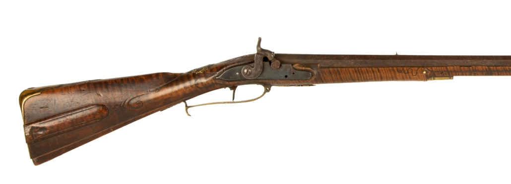 American Revolutionary War-era tiger maple long gun, which sold for $255,000 plus the buyer's premium
