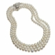 Three graduated natural saltwater pearl necklaces, formerly in the collection of Lady Ludlow and thence by descent to the late Duchess of Abercorn, estimated at £175,000-£200,000. Images courtesy of Christie's Images Ltd 2021