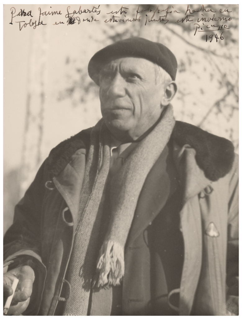 Pablo Picasso-signed photograph, estimated at $6,000-$8,000