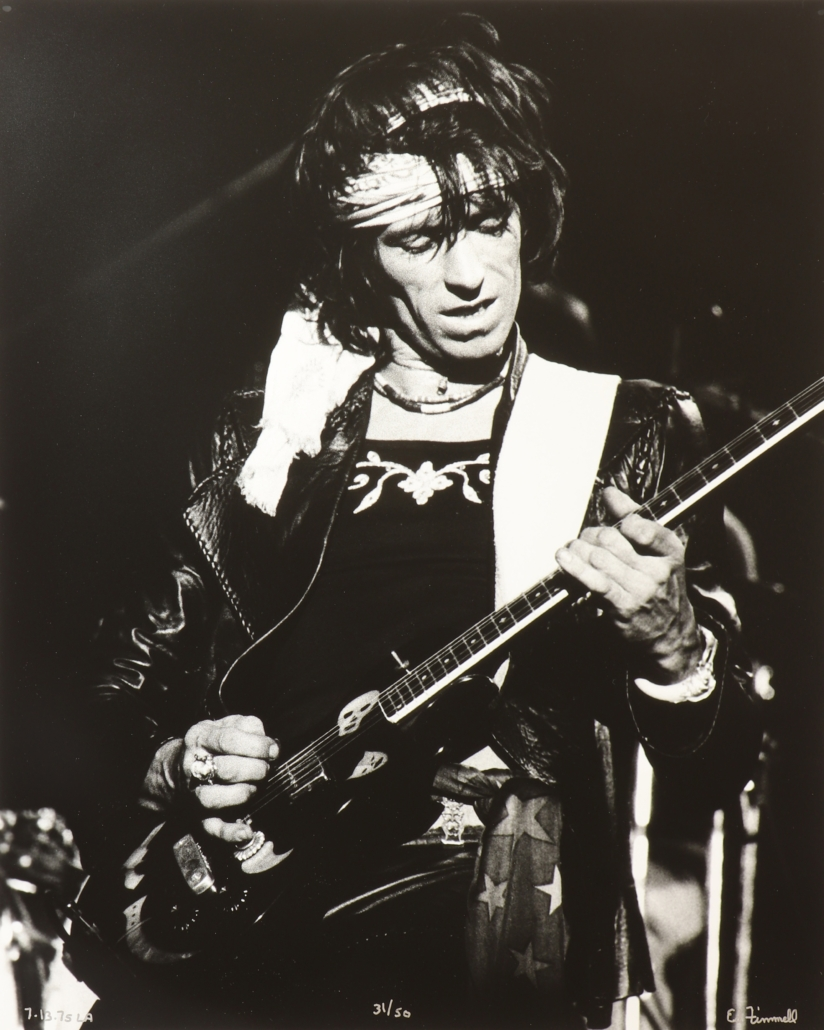 Image of Keith Richards on the 1975 'Tour of The Americas,' taken by Finnell