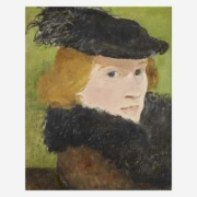 Albert York, 'Ostrich Feathers (Portrait of the Artist's Wife, Virginia Caldwell),' estimated at $15,000-$25,000