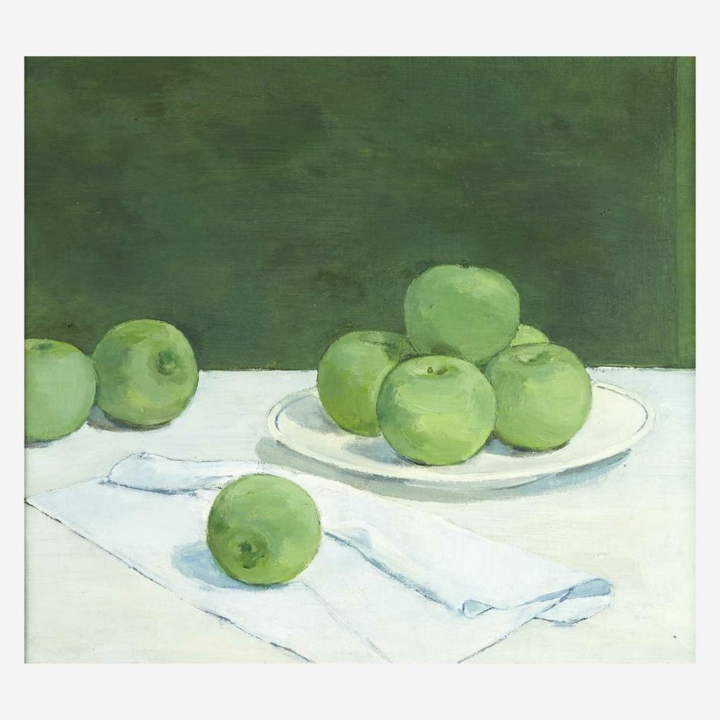 Albert York, 'Still Life: Green Apples,' estimated at $40,000-$60,000