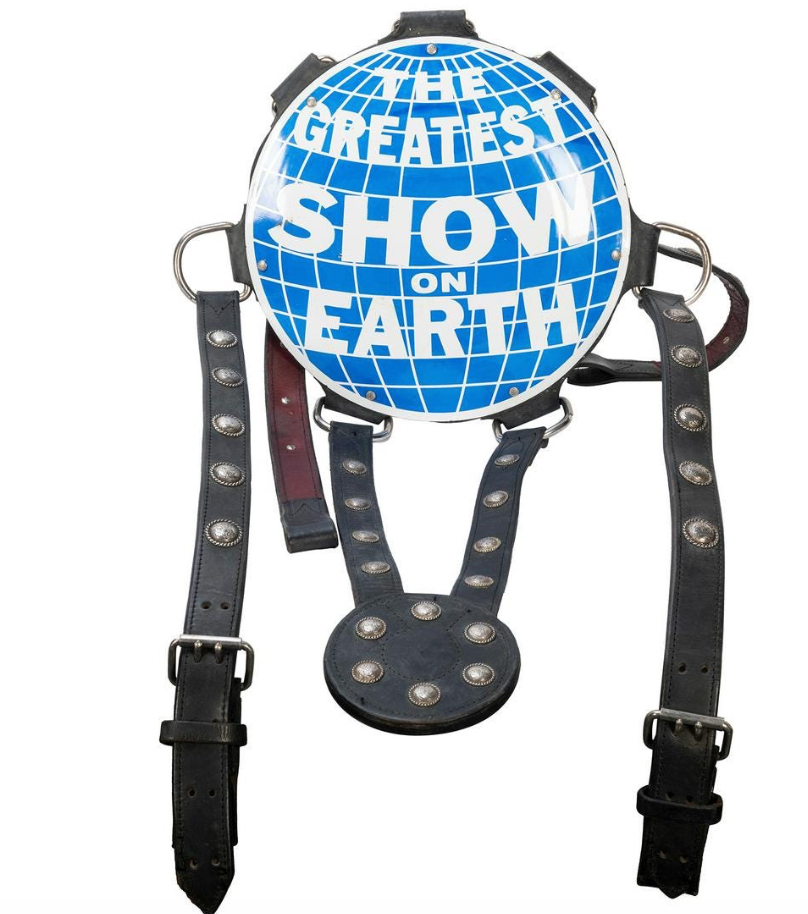 Ringling Brothers and Barnum & Bailey Greatest Show on Earth elephant headdress, estimated at $2,500-$3,500