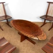 George Nakashima Minguren I coffee table, estimated at $30,000-$50,000