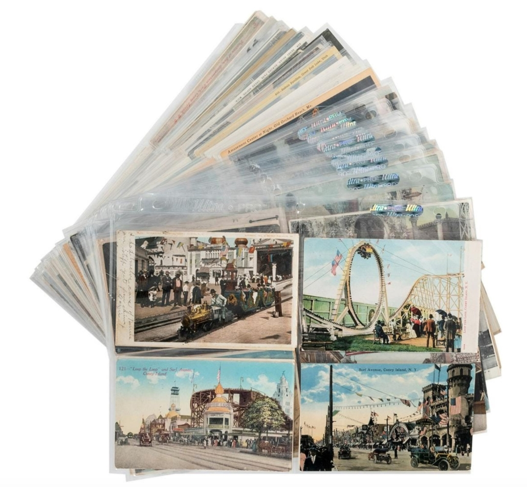 Large group of Coney Island postcards, collectively estimated at $400-$600