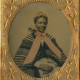 Circa-1863 tintype of a finely dressed African American woman, estimated at $750-$1,250