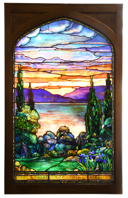 Tiffany art glass window prevailed at Fontaine's auction series