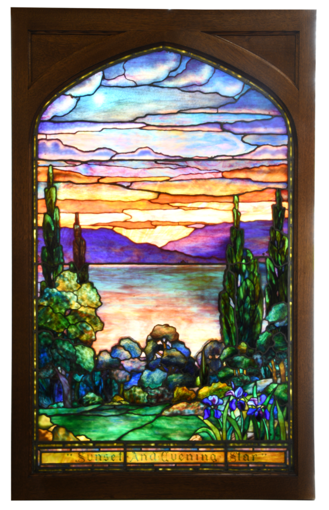'Sunset and Evening Star' Tiffany Studios window, which sold for $139,150
