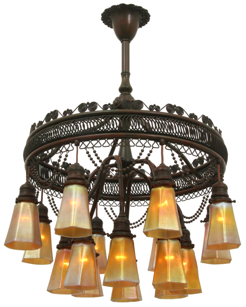 Tiffany Studios 16-shade Moorish chandelier, which sold for $48,400