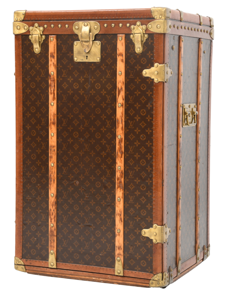 Early 20th century Louis Vuitton monogram steamer trunk, which sold for $28,435