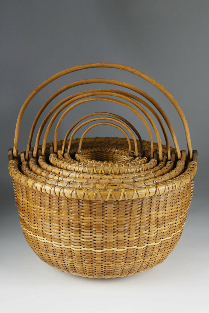 William Sevrens nest of swing handle baskets, estimated at $4,000-$6,000