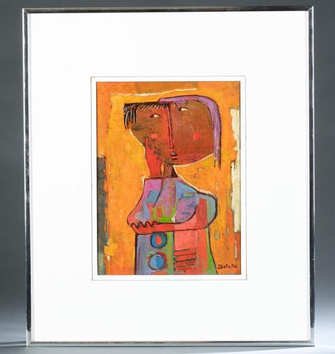 Angel Botello, 'Thinking Girl,' estimated at $10,000-$15,000