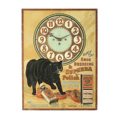 Black cat clock could bring luck to Miller & Miller sale, June 19