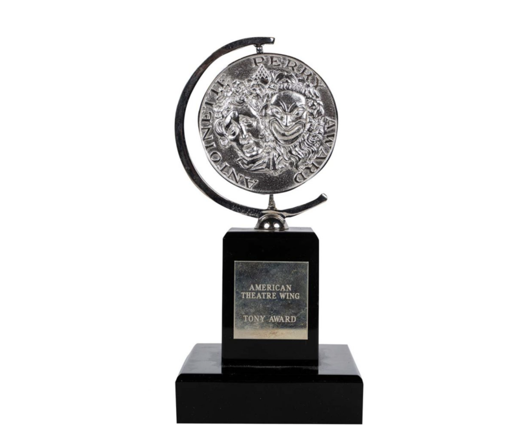 Carol Channing's 1964 American Theatre Wing Tony Award, which sold for $28,125