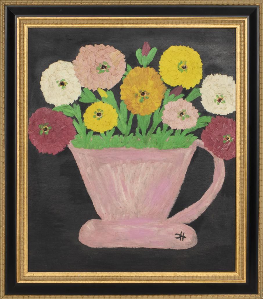 Clementine Hunter, 'Folk Art Still Life,' estimated at $6,000-$8,000