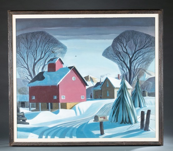 Dale William Nichols, 'Heavy Heavy Hangs Over,' estimated at $30,000-$50,000