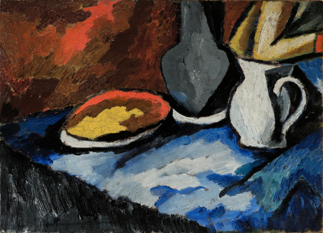 David Burliuk, 'Morning still life,' which sold for £250,250 and top lot status. Image courtesy of Bonhams Images Ltd.