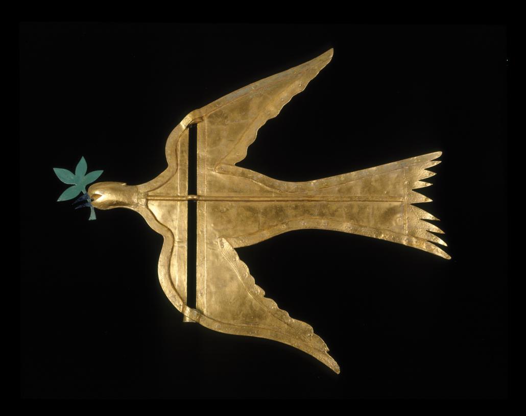 Dove of Peace weathervane, created in Philadelphia in 1787 by Joseph Rakestraw