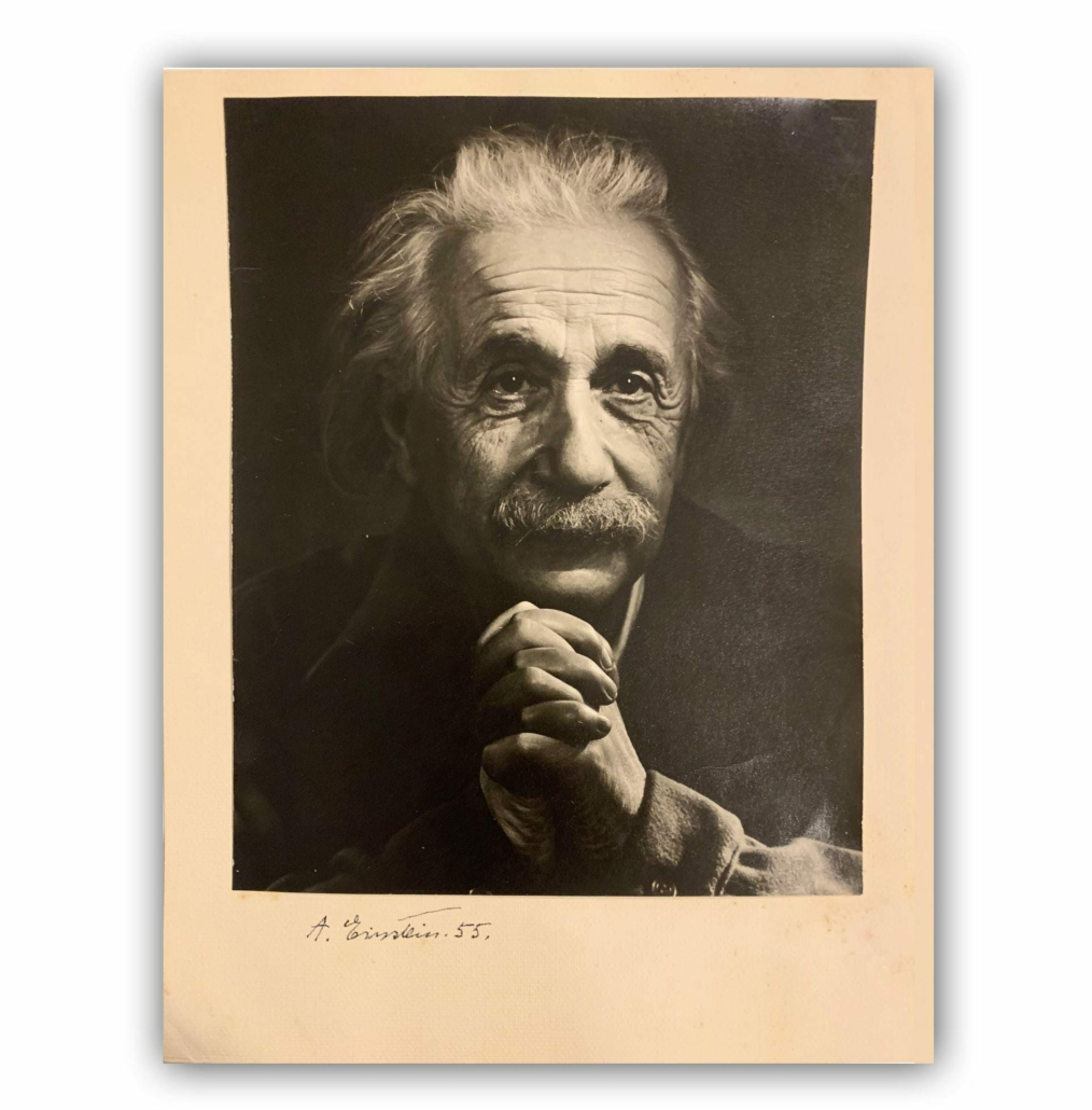 Photograph of Einstein by Yousuf Karsh, which sold for $34,375