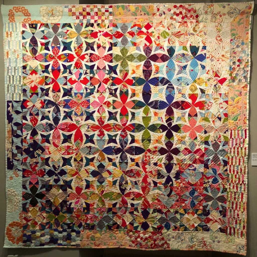 Toshiko Akashi, 'Elegant and Brilliant Osaka,' an award-winning quilt on view in the traveling exhibit at the New England Quilt Museum.