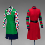 United Air Lines uniforms from 1973, designed by Jean Louis, collection of SFO Museum