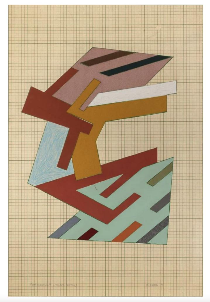 Frank Stella, 'Targowica,' estimated at $50,000-$70,000. Courtesy of Doyle New York Images Ltd 2021