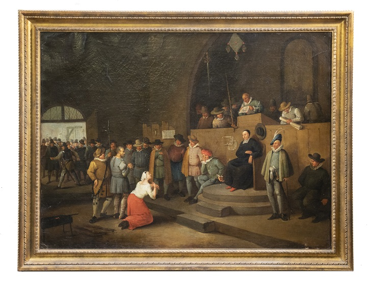 Old Master painting of a Court of the Inquisition trial, estimated at $25,000-$50,000
