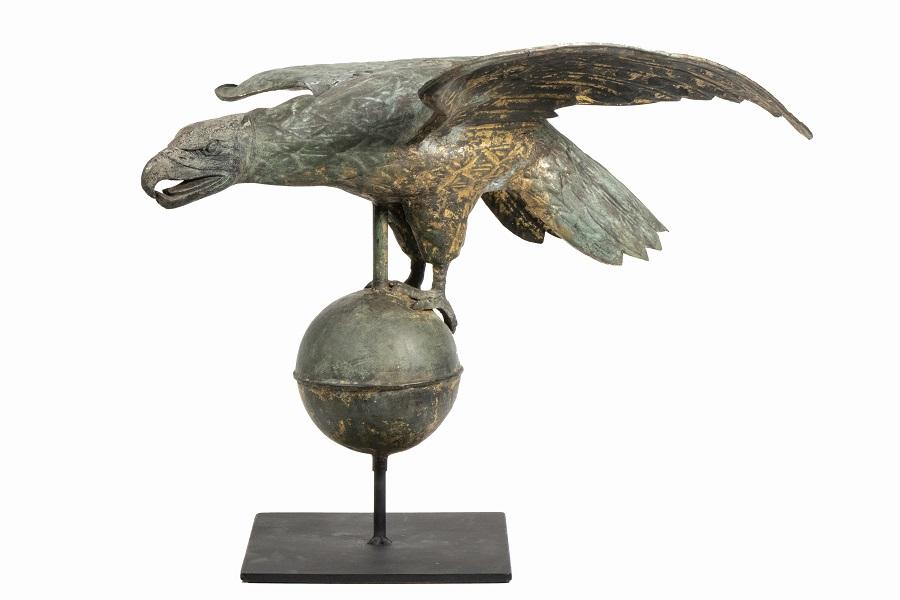 19th century American eagle weathervane, estimated at $3,000-$5,000