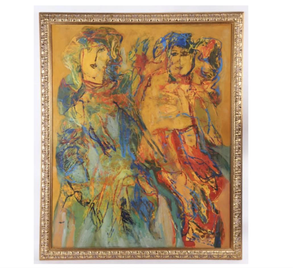 Undated Gina Pellon oil on canvas, estimated at $3,000-$6,000
