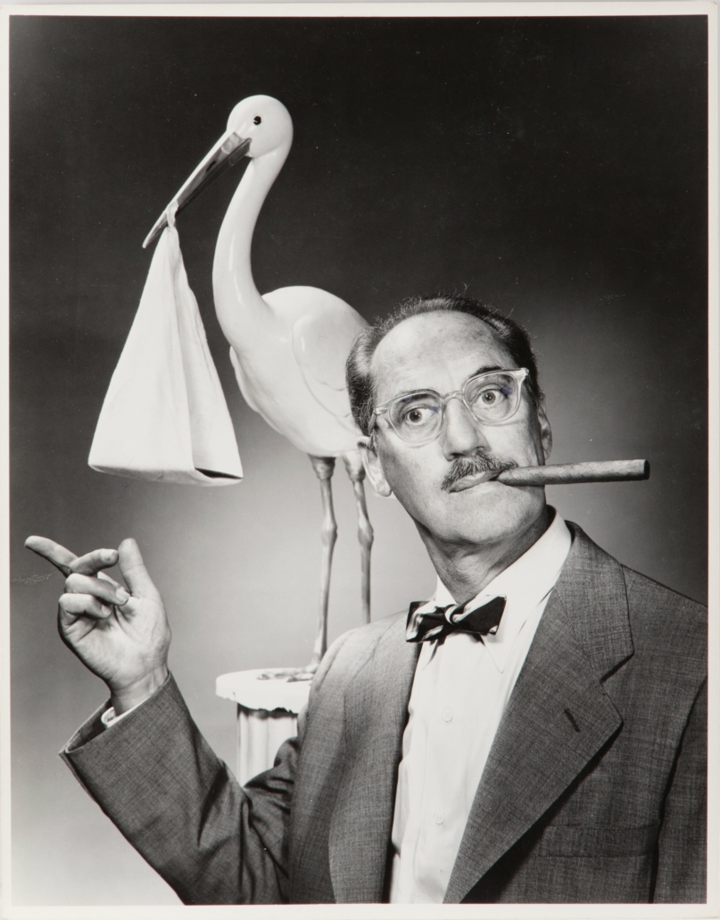 Another of the five 'You Bet Your Life' publicity photos that once belonged to Groucho Marx, collectively estimated at $1,000-$1,000,000
