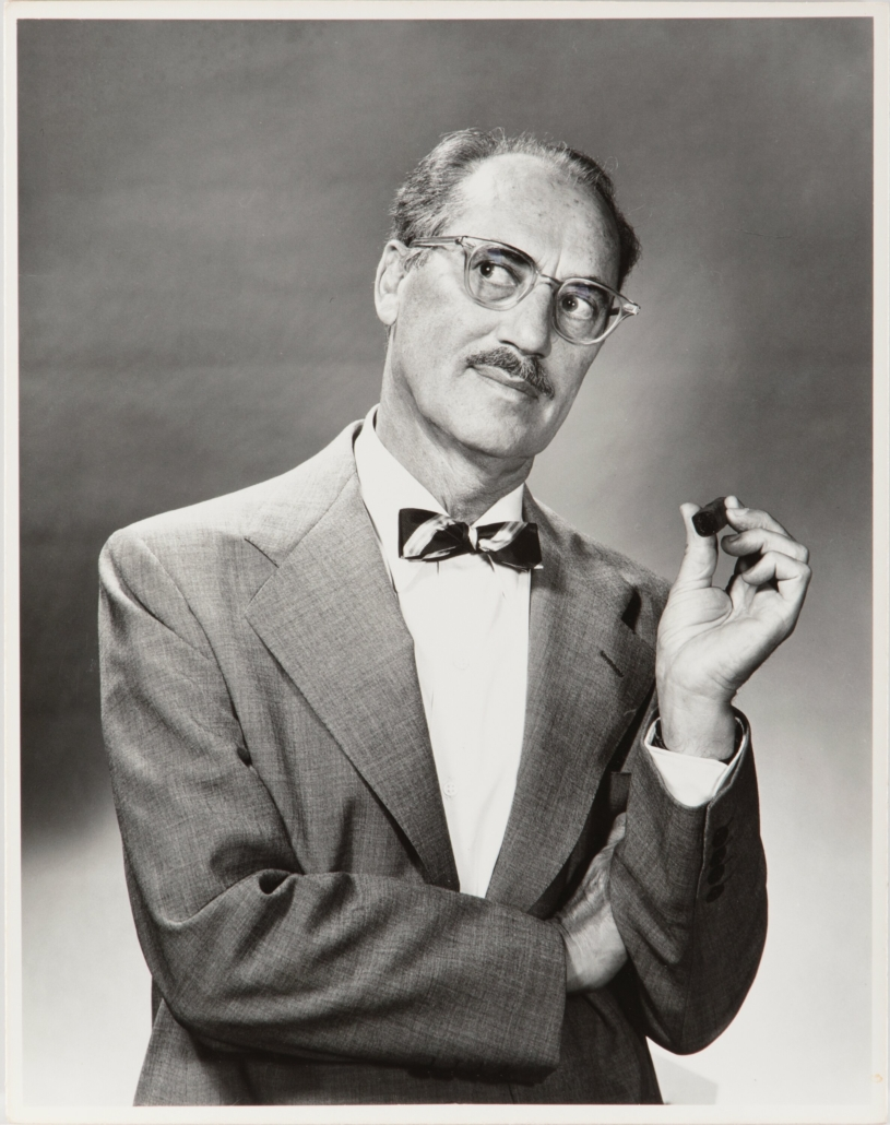 One of five 'You Bet Your Life' publicity photos that once belonged to Groucho Marx, collectively estimated at $1,000-$1,000,000